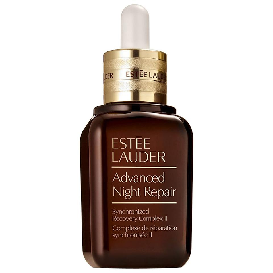 "<p>With over 2,800 five-star reviews, this anti-aging serum from Estée Lauder is a clear favorite among Nordstrom shoppers. Use it morning and night to nourish your skin and minimize signs of aging with hyaluronic acid and antioxidants. </p> <p><strong>To buy</strong>: $77 (was $103); <a href=""https://click.linksynergy.com/deeplink?id=93xLBvPhAeE&mid=1237&murl=http%3A%2F%2Fshop.nordstrom.com%2Fs%2Festee-lauder-advanced-night-repair-synchronized-recovery-complex-ii-serum%2F3540192%2Ffull&u1=RS%2CThe9BestAnti-AgingBeautyProductsonSaleDuringNordstrom%2527sSurpriseSale%2Cjmastrop%2CMAK%2CIMA%2C697355%2C202003%2CI"" target=""_blank"">nordstrom.com</a>. </p>"