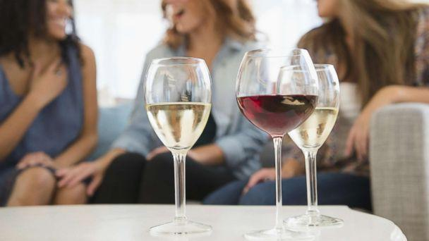 PHOTO: Women are pictured with wine glasses in an undated stock photo. (STOCK PHOTO/Getty Images)
