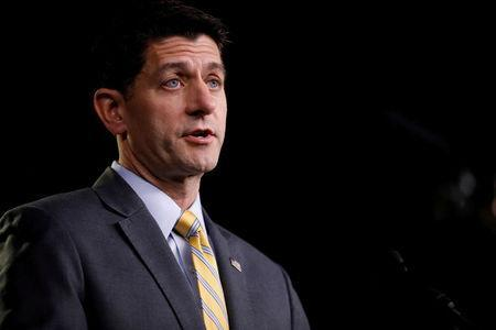 FILE PHOTO: U.S. Speaker of the House Paul Ryan speaks with reporters during his weekly news conference on Capitol Hill in Washington, U.S., June 21, 2018. REUTERS/Aaron P. Bernstein/Files