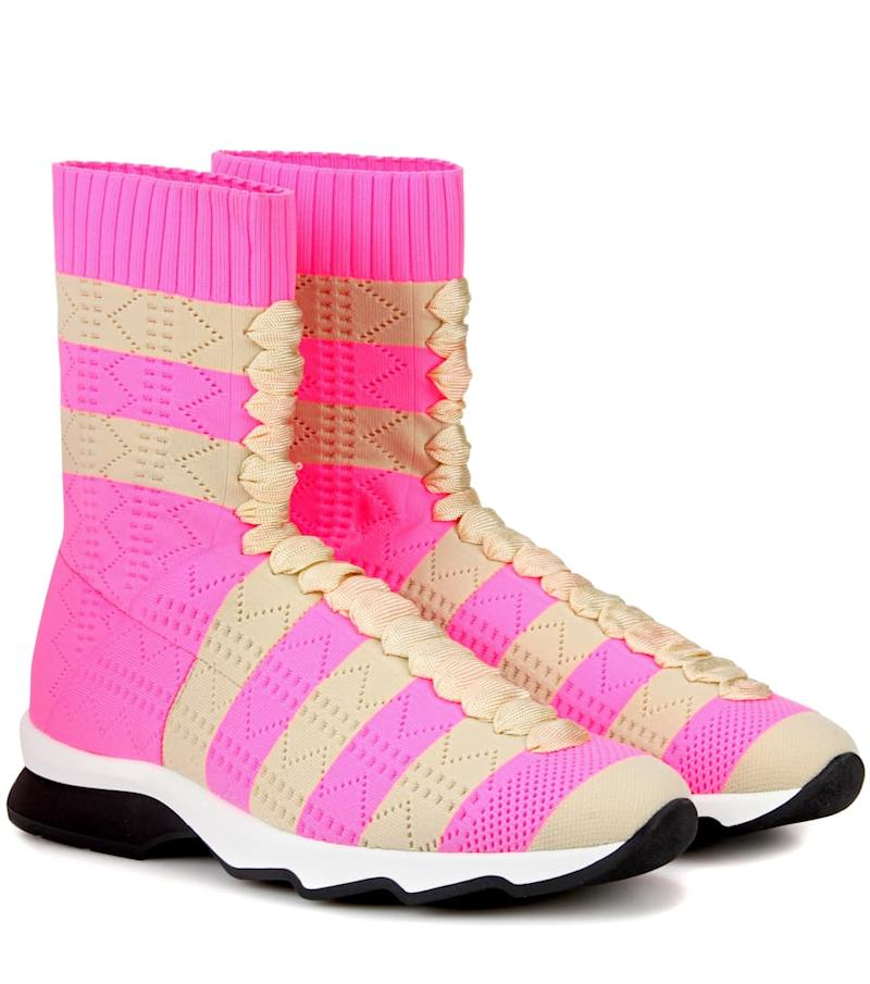 Fendi High-Top-Sneakers. (Bild: Mytheresa.com)