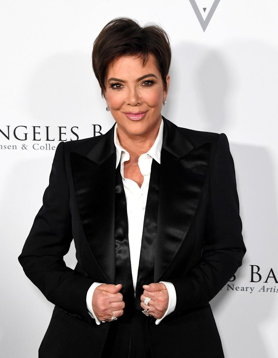 <p>Kris Jenner's signature pixie cut has more shape and body on top for a voluminous look. </p>