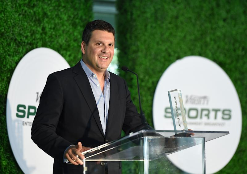 Executive producer Eric Weinberger speaks onstage at the Variety Sports Entertainment Breakfast at Vibiana on July 14, 2015 in Los Angeles, California.