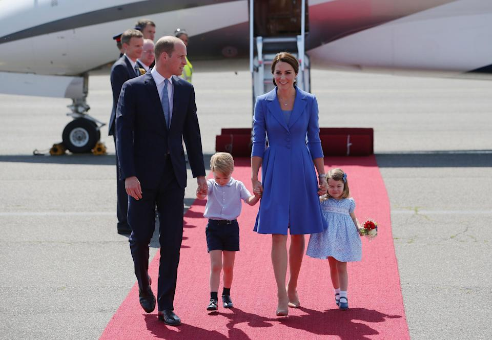 Kate wore the Catherine Walker dress from the royal tour of Germany in 2017 (PA)
