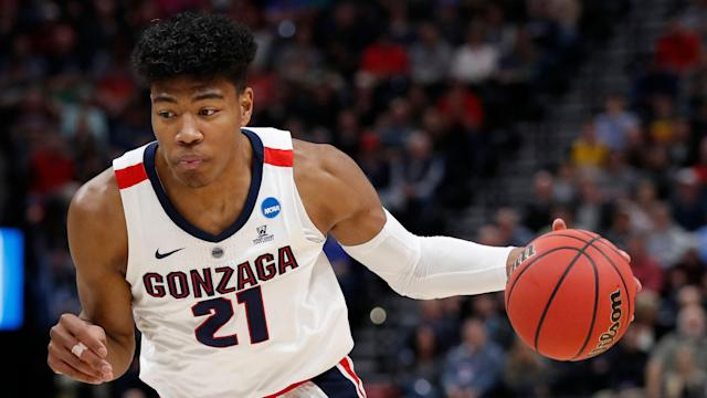 "<a class=""link rapid-noclick-resp"" href=""/ncaab/players/137076/"" data-ylk=""slk:Rui Hachimura"">Rui Hachimura</a> is expected to be the first Japanese-born player selected in the NBA draft. (AP)"