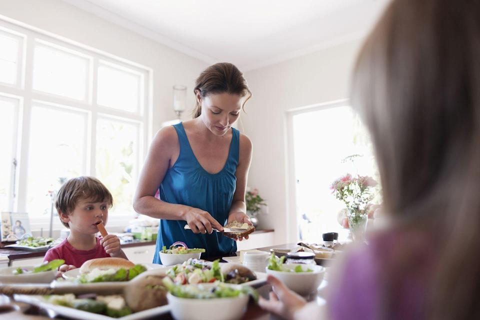 """<p>Busy families can save major time and money by preparing their <a href=""""https://www.goodhousekeeping.com/easy-weeknight-meals/"""" rel=""""nofollow noopener"""" target=""""_blank"""" data-ylk=""""slk:dinners"""" class=""""link rapid-noclick-resp"""">dinners</a> on Sundays instead of resorting to takeout. Plus, knowing what's for dinner will leave you one less thing to worry about during those crucial, post-school hours.</p><p><strong>RELATED: </strong><a href=""""https://www.goodhousekeeping.com/food-recipes/a28377603/how-to-meal-prep/"""" rel=""""nofollow noopener"""" target=""""_blank"""" data-ylk=""""slk:A Beginner's Guide on How to Meal Prep Like a Pro"""" class=""""link rapid-noclick-resp"""">A Beginner's Guide on How to Meal Prep Like a Pro</a></p>"""