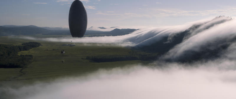 "This image released by Paramount Pictures shows a scene from ""Arrival."" (Paramount Pictures via AP)"