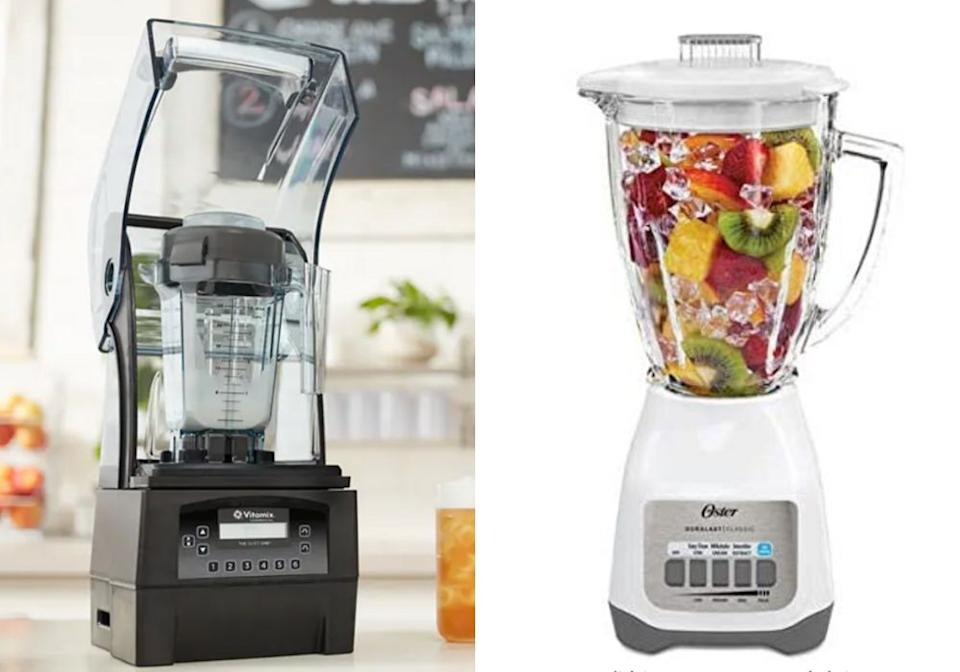 "If a frozen marg is your fave, you'll need a blender. ""For bars, there's no better blender than a commercial Vitamix,"" Mix said. The top-of-the line model is <a href=""https://go.skimresources.com?id=38395X987171&xs=1&xcust=margs-KristenAiken_04-28-21-&url=https%3A%2F%2Fwww.vitamix.com%2Fus%2Fen_us%2FCommercial%2FProducts%2FBeverage-Blenders%2FThe-Quiet-One%23photos"" target=""_blank"" rel=""noopener noreferrer"">The Quiet One</a>, which retails for ... a lot. <br /><br /><strong><a href=""https://go.skimresources.com?id=38395X987171&xs=1&xcust=margs-KristenAiken_04-28-21-&url=https%3A%2F%2Fwww.vitamix.com%2Fus%2Fen_us%2FCommercial%2FProducts%2FBeverage-Blenders%2FThe-Quiet-One%23photos"" target=""_blank"" rel=""noopener noreferrer"">Get ""The Quite One"" Vitamix for $1,339</a><br /><br /></strong>For home use, something much less fancy is just fine. ""We love the plain old Oster, which sells for about $25,"" Garcia said.<br /><br /><strong><a href=""https://amzn.to/32Xsp0E"" target=""_blank"" rel=""noopener noreferrer"">Get the Oster Classic Series Blender for $24.75</a></strong>"