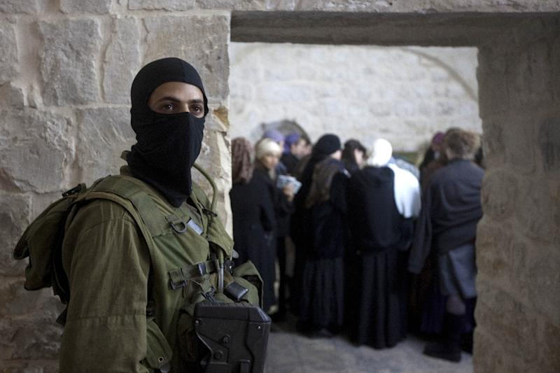 The Israeli army regularly escorts groups of Jewish pilgrims to the Joseph's Tomb religious site close to the Palestinian city of Nablus
