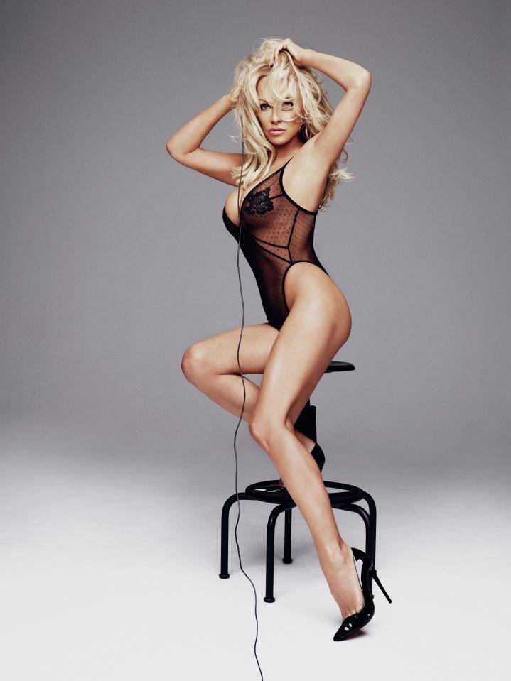 The Baywatch star shows off her toned figure in a sheer teddy. Source: Rankin/The Full Service