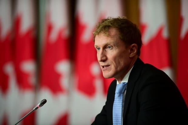 Minister of Indigenous Services Marc Miller announced details of the proposed settlement during a press conference on Friday. (Sean Kilpatrick/The Canadian Press - image credit)