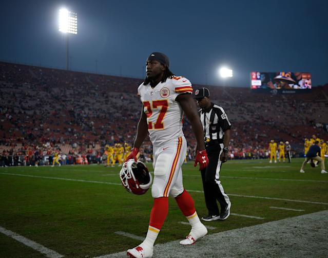 Former Chiefs running back Kareem Hunt, now with the Browns, reportedly has been suspended for the first eight games of the 2019 NFL season (AP photo)