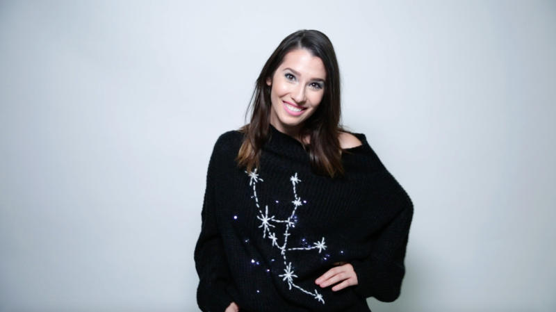 Turn your favorite fall sweater into a magical DIY light-up zodiac constellation