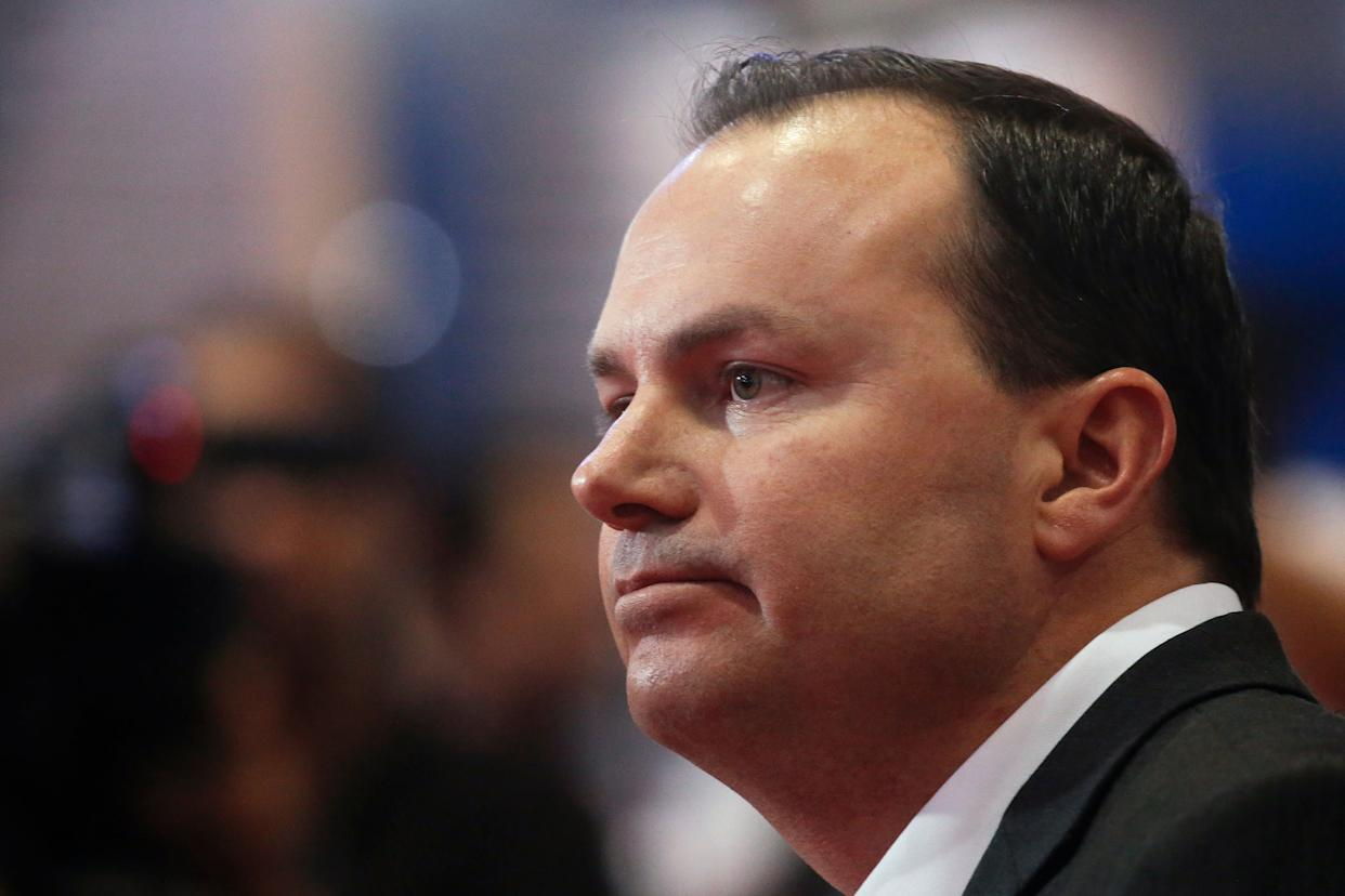 Senator Mike Lee (R-UT) has not offered his endorsement yet. While he has signaled his obvious displeasure ― earlier this year he said Trump scared him &ldquo;<span>to death</span>&rdquo; ― he could come around in the future if he &ldquo;heard the right things out of him.&rdquo; (REUTERS/Carlo Allegri)