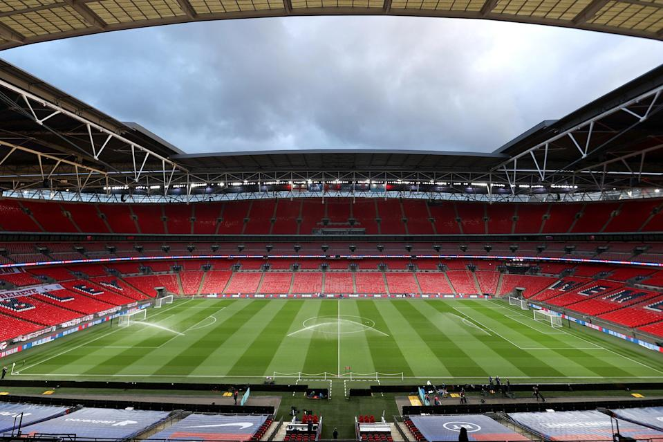 <p>Tottenham and Manchester City will get 2,000 tickets each for Wembley</p> (The FA via Getty Images)