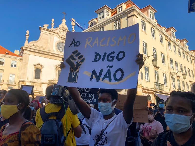 'Racism kills': hundreds protest after Black actor shot dead in Lisbon