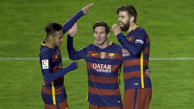 An impending law suit from Barcelona was seemingly of little concern to Neymar, who joined Lionel Messi in trolling Gerard Pique.