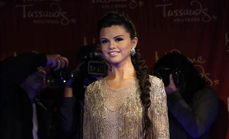 The wax figure of singer and actress Selena Gomez is pictured after it was unveiled at Madame Tussauds museum in Hollywood