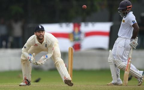 Ben Foakes in action for England against theSri Lanka Board President's XI - Credit: getty images