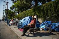 Shocking levels of homelessness in California are a perennial issue for voters, with thousands of people living in tents on the streets (AFP/Apu GOMES)