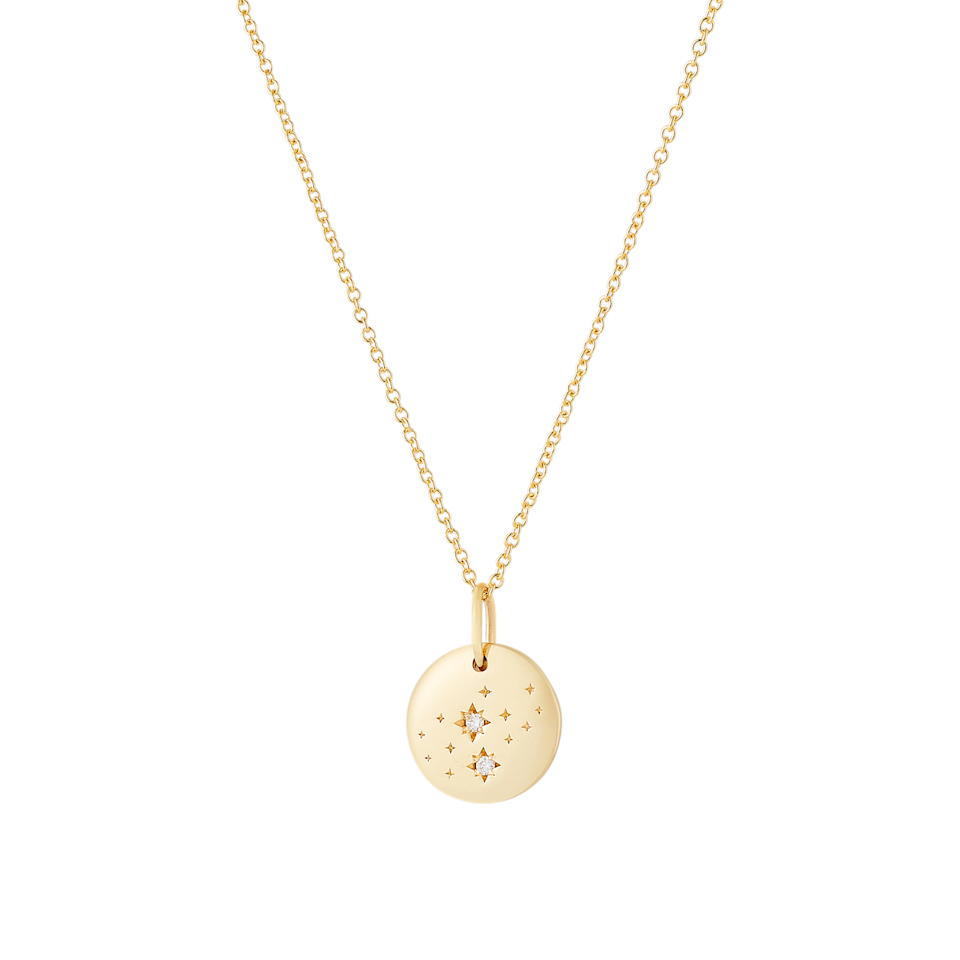 """<h2><a href=""""https://fave.co/2TbPnwb"""" rel=""""nofollow noopener"""" target=""""_blank"""" data-ylk=""""slk:Zodiac Necklace"""" class=""""link rapid-noclick-resp"""">Zodiac Necklace</a></h2><br>Let someone know that you remembered their birthday with one of these cute and elegant 14K gold astrology necklaces. <br><br><br><br><strong>Mejuri</strong> Virgo Necklace 14k Gold, $, available at <a href=""""https://go.skimresources.com/?id=30283X879131&url=https%3A%2F%2Ffave.co%2F3m6Tztm"""" rel=""""nofollow noopener"""" target=""""_blank"""" data-ylk=""""slk:Mejuri"""" class=""""link rapid-noclick-resp"""">Mejuri</a>"""