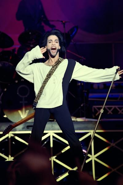 Prince -- shown here performing at the Parc des Princes stadium in Paris in 1990 -- died on April 21, 2016