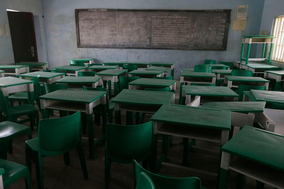 At least 80 students and five teachers have been kidnapped by gunmen in Nigeria (stock) (AP)