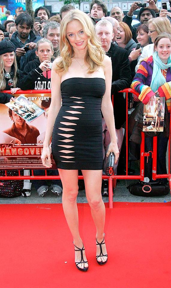 """Apparently, Heather Graham also felt the need to show some skin this week. At the Irish premiere of her new film, """"The Hangover,"""" the buxom blond looked more like an exotic dancer and less like an A-list actress. Mark Doyle/<a href=""""http://www.splashnewsonline.com"""" target=""""new"""">Splash News</a> - June 9, 2009"""
