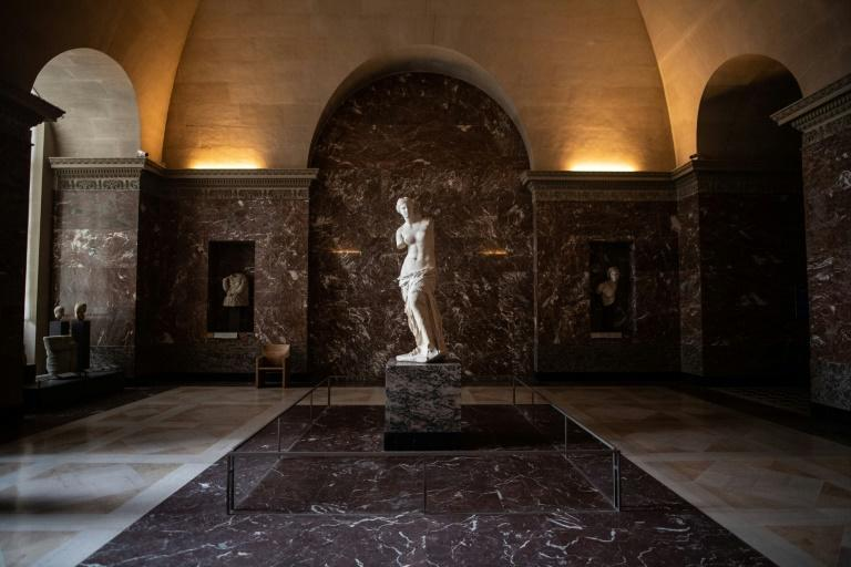 World famous attractions such as the Venus de Milo have been deprived of their usual crowds during the pandemic