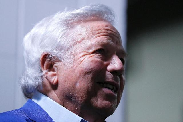 The trial of New England Patriots owner Robert Kraft on a misdemeanor prostitution charge is on hold after prosecutors appealed a judge's decision to exclude video evidence (AFP Photo/Kevin C. Cox)