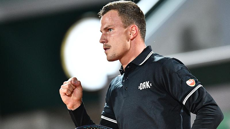 Marton Fucsovics, pictured here during his win over Daniil Medvedev at the French Open.