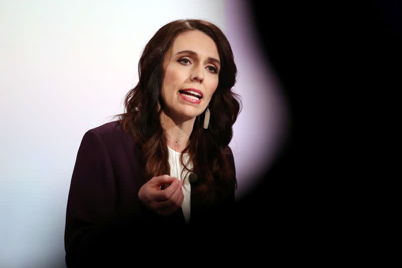 New Zealand Prime Minister Ardern participates in a debate in Auckland
