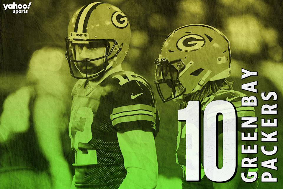 Yahoo Sports' 2020 NFL season preview: No. 10 Green Bay Packers featuring quarterback Aaron Rodgers.