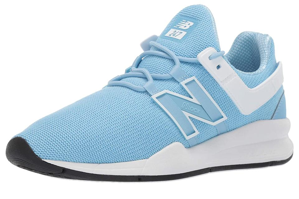 blue sneakers, New Balance