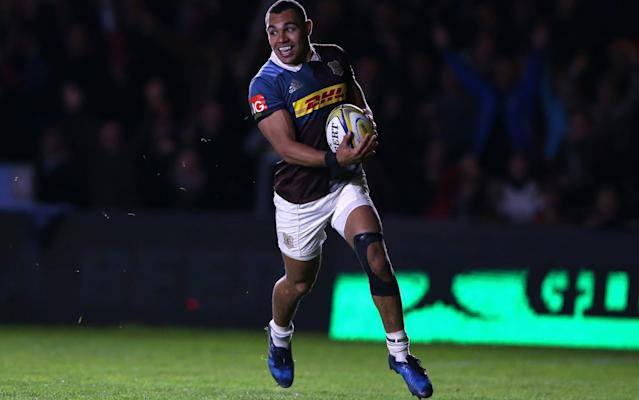 <span>Joe Marchant scores Harlequins' second try late on</span> <span>Credit: Getty Images </span>