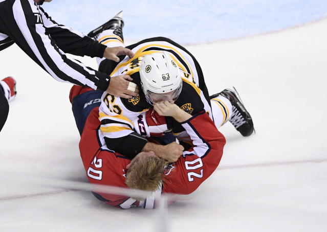Brad Marchand is back to doing Brad Marchand things. ( <span>AP Photo/Nick Wass)</span>