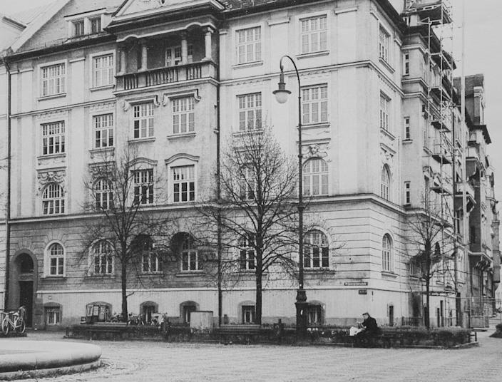 14 Prinzregent Platz, Munich, Frank Stock lived as a child. She said she would see Hitler being rushed into the building by SS guards - most likely fearful of an assassination attempt. (SWNS)