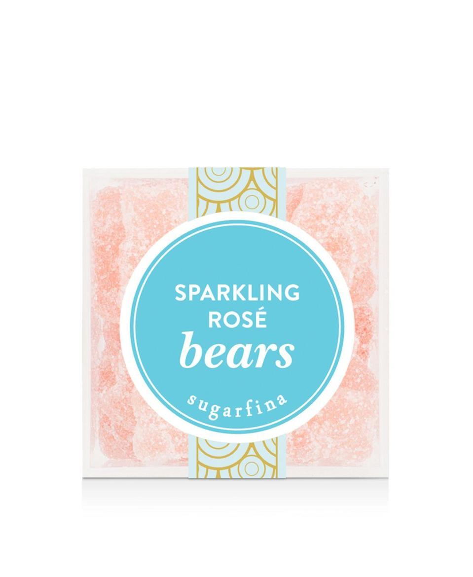"""<p><strong>Sugarfina</strong></p><p>bloomingdales.com</p><p><strong>$8.95</strong></p><p><a href=""""https://go.redirectingat.com?id=74968X1596630&url=https%3A%2F%2Fwww.bloomingdales.com%2Fshop%2Fproduct%2Fsugarfina-sparkling-rose-bears-small%3FID%3D2723270&sref=https%3A%2F%2Fwww.delish.com%2Fholiday-recipes%2Fchristmas%2Fg3831%2Fbest-food-gifts%2F"""" rel=""""nofollow noopener"""" target=""""_blank"""" data-ylk=""""slk:BUY NOW"""" class=""""link rapid-noclick-resp"""">BUY NOW</a></p><p>A no brainer for your rosé all day partner-in-crime.</p>"""
