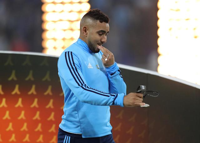 Soccer Football - Europa League Final - Olympique de Marseille vs Atletico Madrid - Groupama Stadium, Lyon, France - May 16, 2018 Marseille's Dimitri Payet looks dejected during the medal ceremony REUTERS/Peter Cziborra