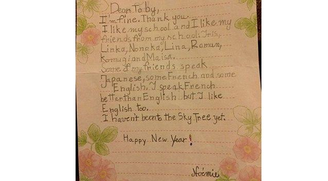 Toby began his quest to write to every country when he was just five-years-old. Source: Facebook.