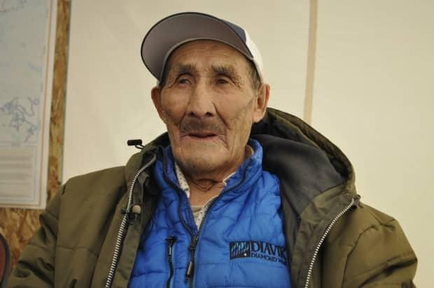 Gabe Kochon, 92, a Sahtu Dene Elder, died Monday night from COVID-19. He is the first resident of the N.W.T. to succumb to the virus.  (Alex Brockman/CBC - image credit)