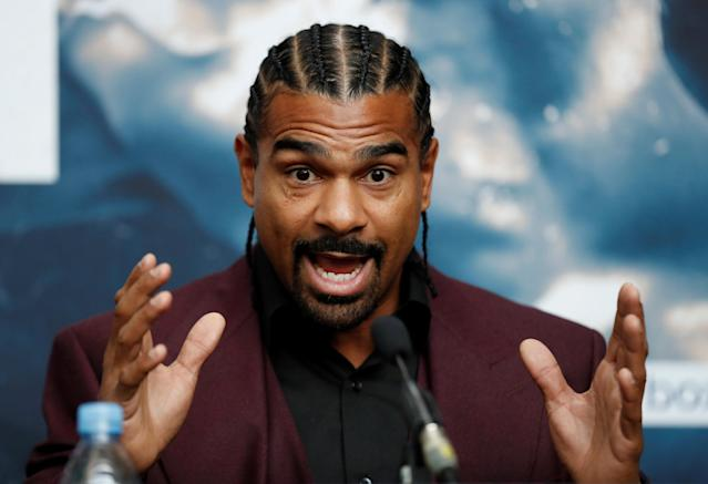Boxing - Tony Bellew & David Haye Press Conference - London, Britain - February 21, 2018 David Haye during the press conference Action Images via Reuters/Matthew Childs