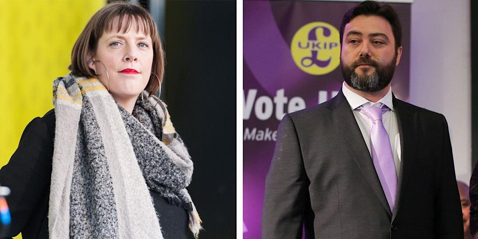 Carl Benjamin, right, discussed raping Jess Phillips, left, in a video post (Pictures: Getty)