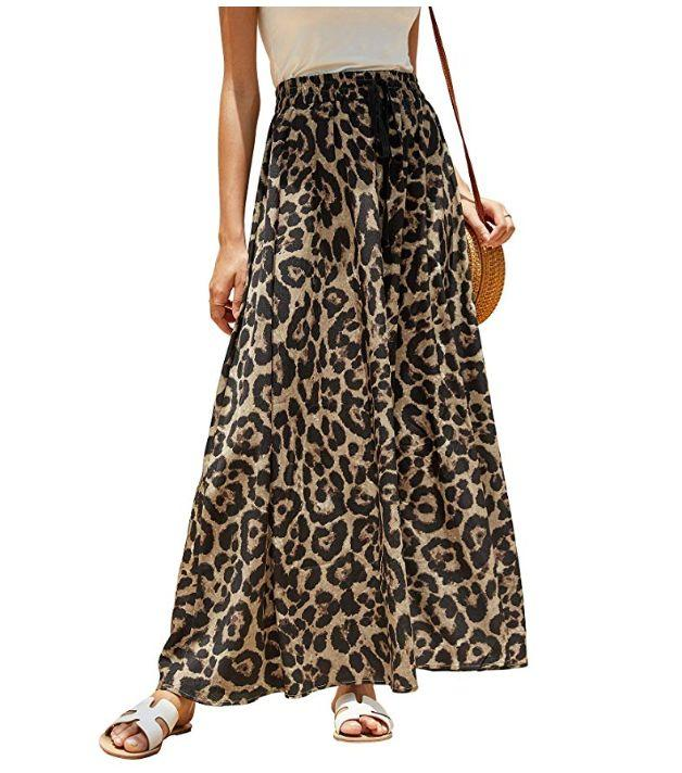 """<strong><a href=""""https://www.amazon.com/Imysty-Leopard-Drawstring-Waisted-Bohemian/dp/B07KJZZLG6/ref?tag=thehuffingtop-20&amp;th=1&amp;psc=1"""" target=""""_blank"""" rel=""""noopener noreferrer"""">Find it for $23 on Amazon.</a></strong>"""