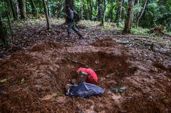 Panamanian authorities have sent police reinforcements to patrol the area where a shady religious sect murdered seven people in an apparent human sacrifice ritual (AFP Photo/Luis ACOSTA)