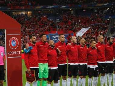 Andorra's anthem being played for Albania one of many in striking wrong notes at sporting events
