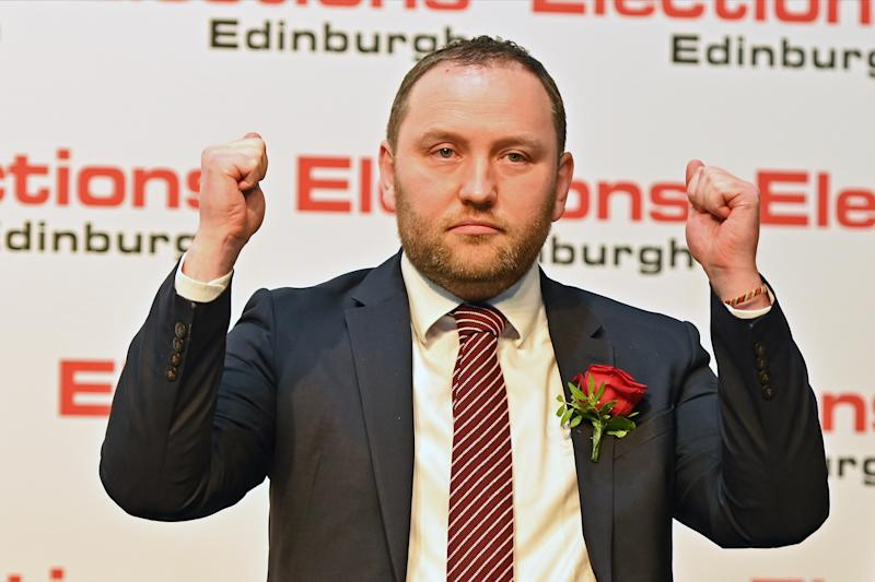 EDINBURGH, SCOTLAND - DECEMBER 13: Scottish Labour candidate Ian Murray celebrates after retaining his Edinburgh South seat in the general election, on December 13, 2019 in Edinburgh, Scotland. The current Conservative Prime Minister Boris Johnson called the first UK winter election for nearly a century in an attempt to gain a working majority to break the parliamentary deadlock over Brexit. The election results from across the country are being counted overnight and an overall result is expected in the early hours of Friday morning. (Photo by Ken Jack/Getty Images)