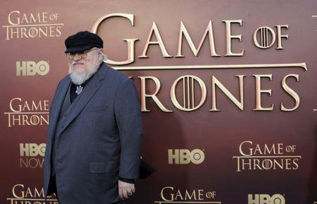 """FILE PHOTO: Co-executive producer George R.R. Martin arrives for the season premiere of HBO's """"Game of Thrones"""" in San Francisco"""