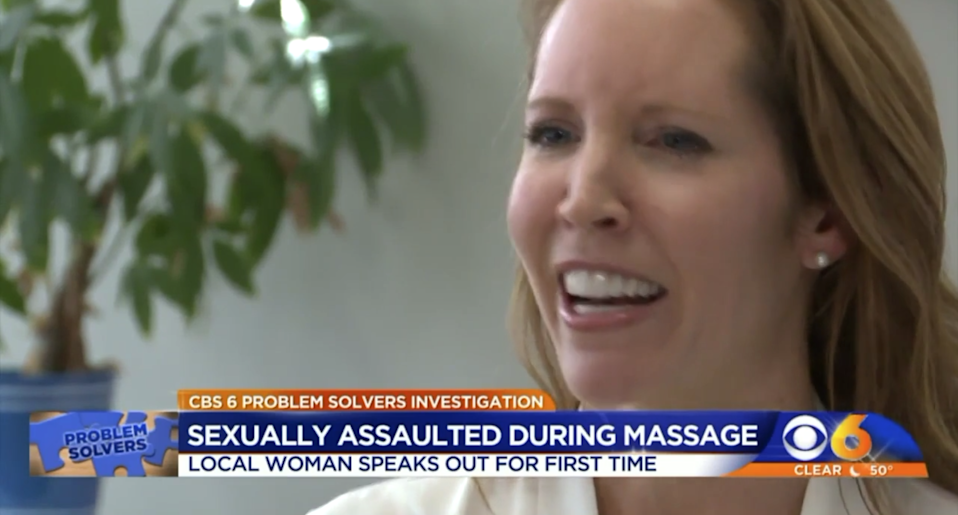 Danielle Dick, a college professor in Virginia, is one of the numerous women who have come forward in recent months to report sexual assaults at Massage Envy. (Photo: CBS 6)