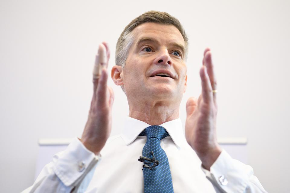 LONDON, ENGLAND - JUNE 11: Mark Harper MP formally launches his bid to become the new leader of the Conservative Party and Prime Minister of the United Kingdom, on June 11, 2019 in London, England. (Photo by Leon Neal/Getty Images)