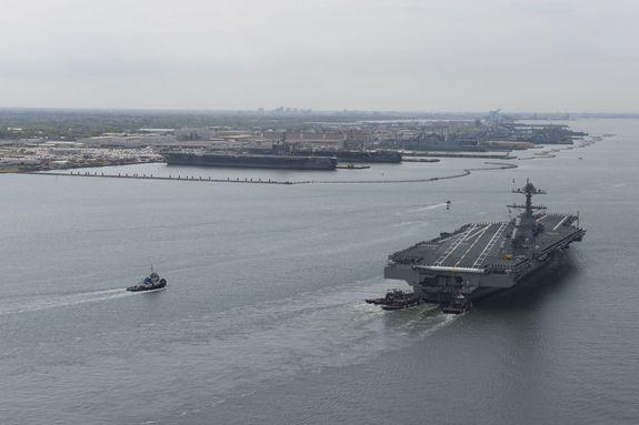 Norfolk Naval Base, the largest in the world, is experiencing flooding from sea level rise.